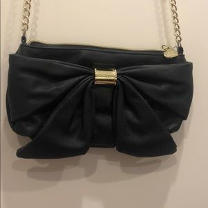 Betsey Johnson black bow purse